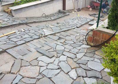 costruzione rampa scale in beole