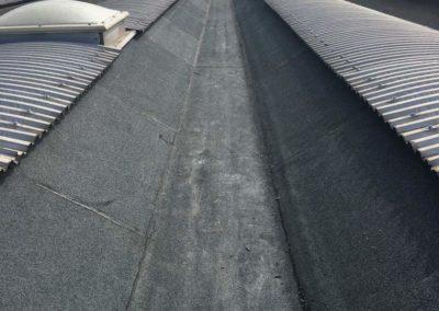 posa manto tetto industriale