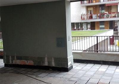 realizzazione portico in pietra